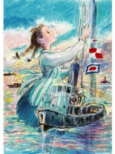 『コクリコ坂から』ポスターは、脚本を手がけた宮崎駿氏によるもの (C)2011高橋千鶴・佐山哲郎・GNDHDDT